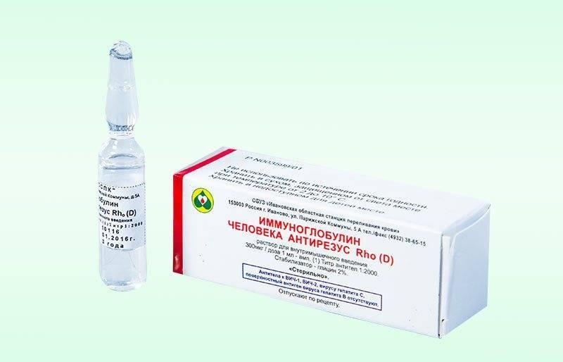 Иммуноглобулин при беременности при отрицательном резус факторе
