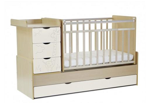 Кроватки для новорожденных (119 фото): размер детских моделей, варианты для двойни, кровать-качалка, с балдахином или с комодом