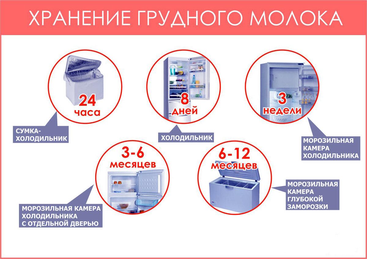 Сколько хранится грудное молоко в холодильнике, сохраняется ли его качество
