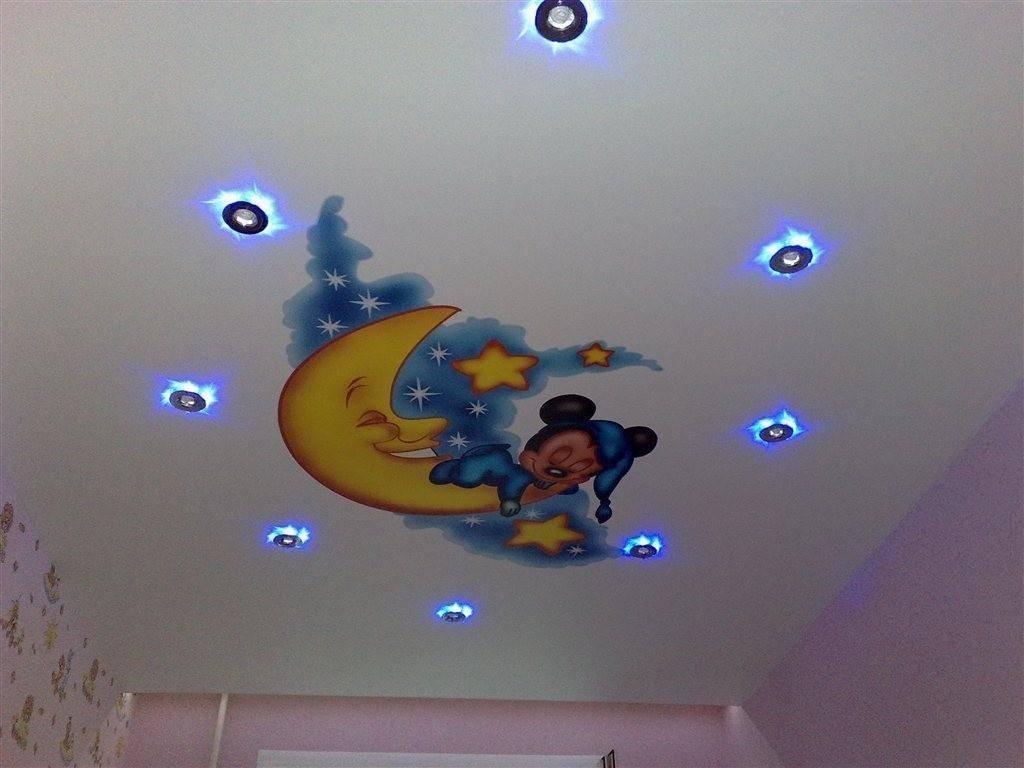 Потолок в детской комнате — варианты оформления