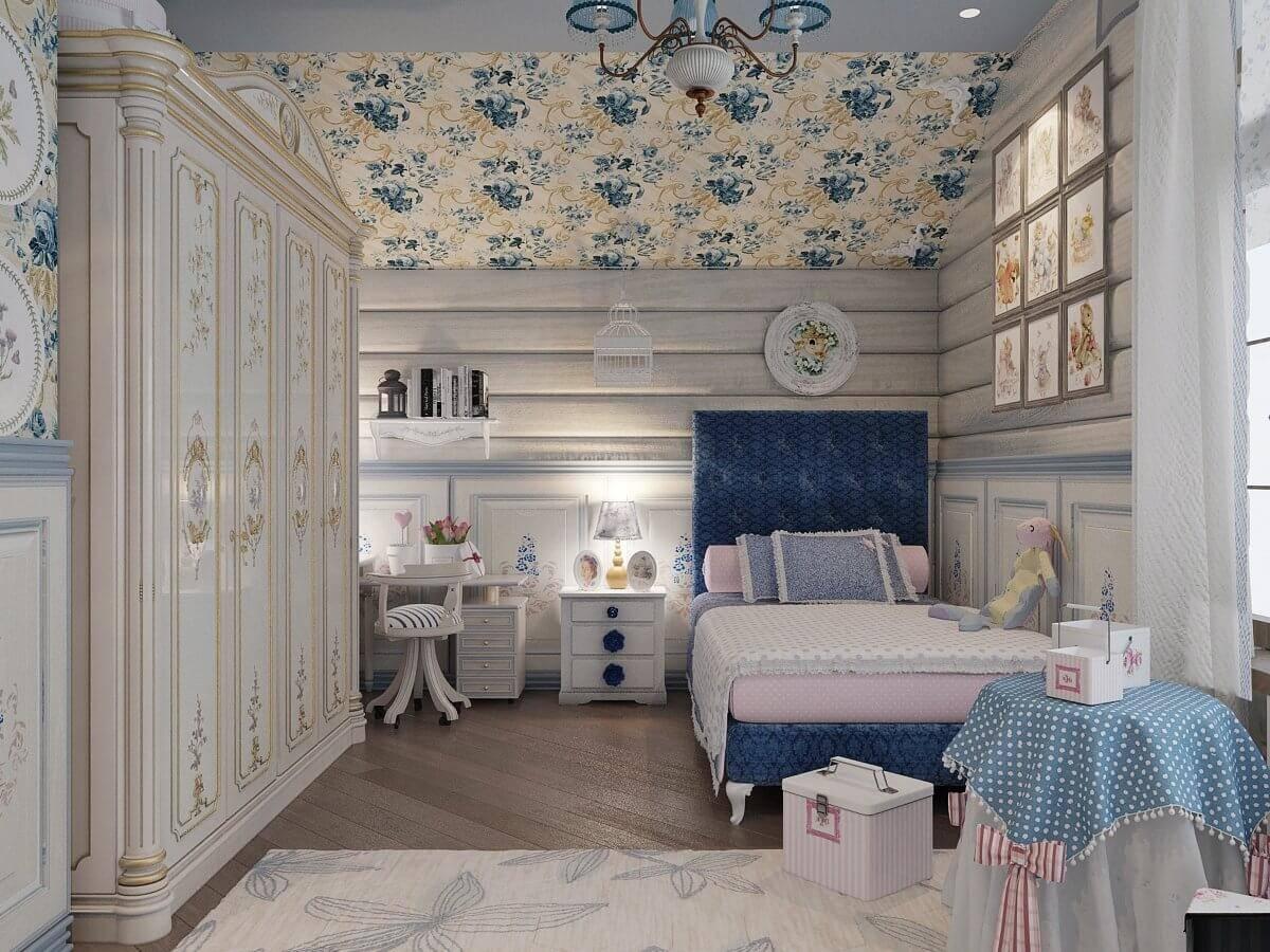 Детская комната в стиле прованс, как образец французского шарма