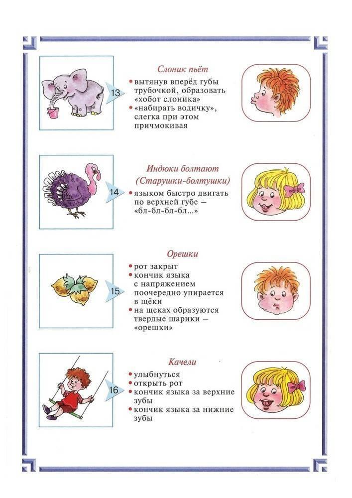 Комплекс артикуляционной гимнастики детям 2-3 лет